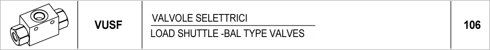 106 – VUSF valvole selettrici / load shuttle—bal type valves
