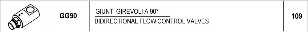 109 – GG90 giunti girevoli a 90° / 90° swivel connections