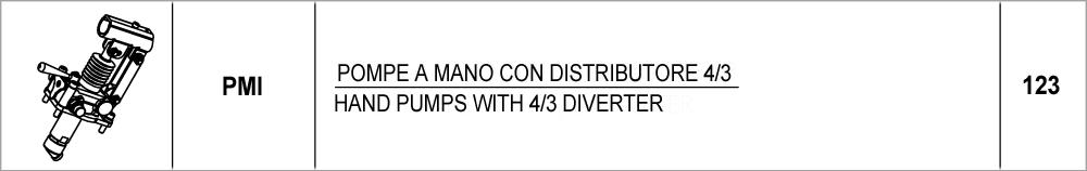 123 – PMI pompe a mano con distributore 4/3 / hand pumps with 4/3 diverter