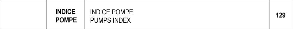 129 – Codice ordinazione pompe a mano / hand pumps ordering codes