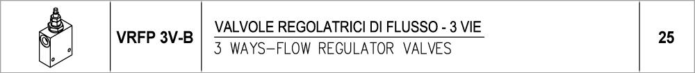25 – VRFP 3V-B valvole regolatrici di flusso – 3 vie / 3 ways-flow regulator valves