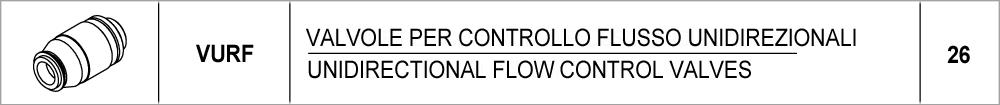 26 – VURF valvole per controllo flusso unidirezionali / unidirectional flow control valves