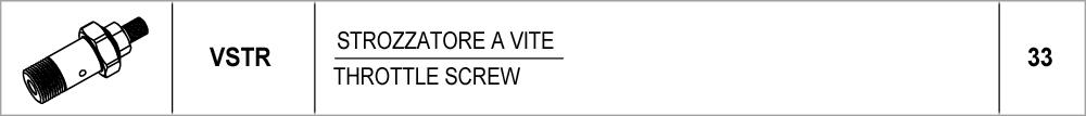 33 – VSTR strozzatore a vite / throttle screw