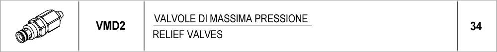 34 – VMD2 valvole di massima pressione / relief valves