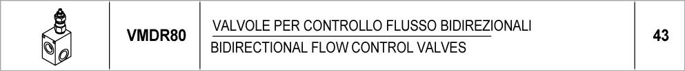 43 – VMDR80 valvole di massima pressione in linea / direct acting relief valves