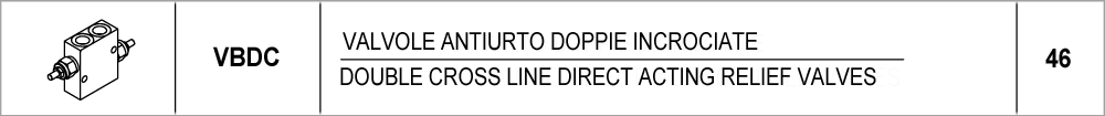 46 – VBDC valvole antiurto doppie incrociate / double cross line direct acting relief valves