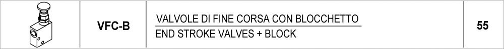 55 – VFC-B valvole di fine corsa con blocchetto / end stroke valves + block