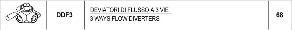 68 – DDF3 deviatori di flusso a 3 vie / 3 ways flow diverters