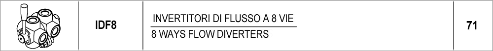 71 – IDF8 invertitori di flusso a 8 vie / 8 ways flow diverters