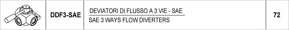 72 – DDF3 deviatori di flusso a 3 vie – SAE / SAE 3 ways flow diverters