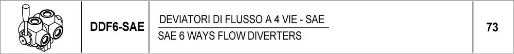 73 – DDF6 invertitori di flusso a 6 vie – SAE / SAE 6 ways flow diverters
