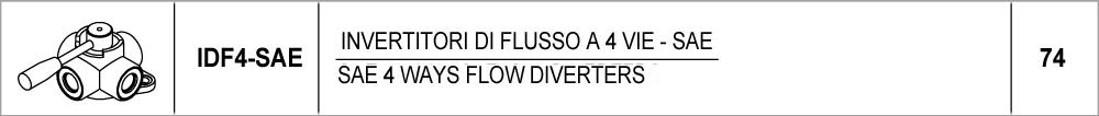 74 – IDF4 invertitori di flusso a 4 vie – SAE / SAE 4 ways flow diverters