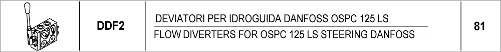 81 – DDF2 deviatori per idroguida danfoss ospc 125 ls / <br />flow diverters for ospc 125 ls steering danfoss
