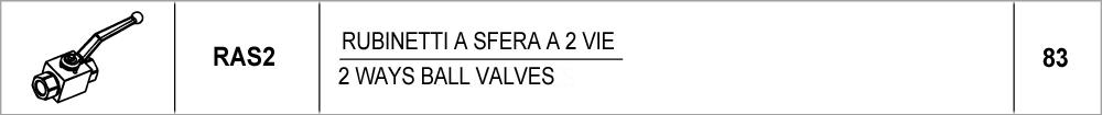 83 – RAS2 rubinetti a sfera a 2 vie / 2 ways ball valves