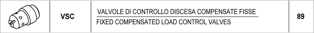089 – VSC valvole di controllo discesa compensate fisse /<br /> fixed compensated load control valves