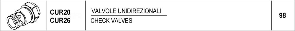 098 – CUR20-CUR26 valvole unidirezionali / check valves